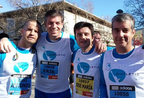 Erik Lommerde, Presidente de la Fundación para la Diabetes participó con el equipo Diatlétic