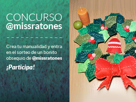 Haz tu decoración navideña y participa en el concurso de una decoración de @missratones