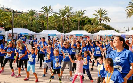 Carrera y Caminata por la Diabetes de Valencia, sesión de Zumba