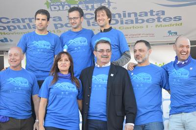 Urrechu y Corbalán junto a Sara Pascual (Vpta. Fundación para la Diabetes), Juan Manuel Gómez (Pte. Asoc. de diabéticos de Madrid) y D. Manuel Molina (Viceconsejero de Sanidad de la Comunidad de Madrid) en la entrega de premios