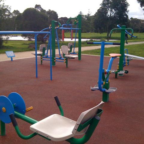 Gimnasio en el parque
