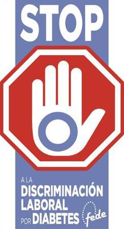 Imagen de la campaña de FEDE contra la discriminación laboral de las personas con diabetes para acceder al empleo público