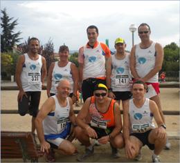 Foto de grupo, en la carrera  de mi pueblo en septiembre 2011.
