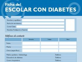 Ficha del escolar con diabetes en Aragón