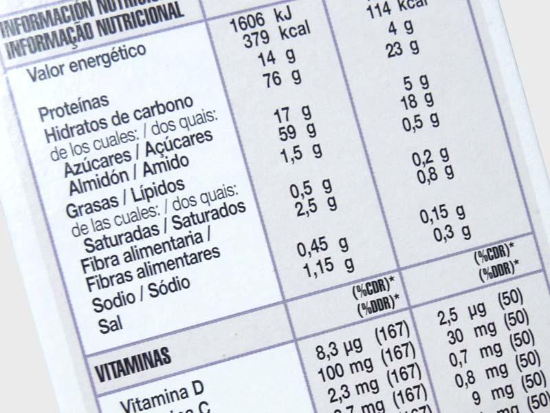 Alimentos, etiquetado y nutrientes