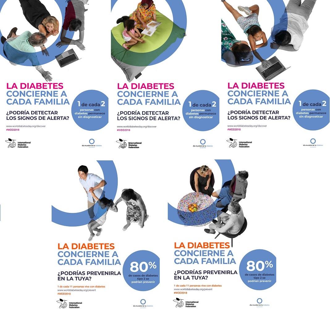 Más carteles Campaña Las Mujeres y la Diabetes
