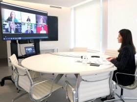 Videoconferencia con Su Majestad la Reina