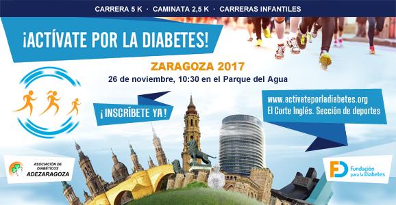 ¡Actívate por la Diabetes en Zaragoza! ¡Inscripciones abiertas!