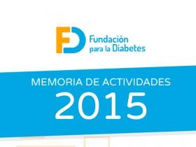 Memoria 2015 de la Fundación para la Diabetes. Infografía