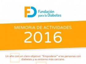 Memoria 2016 de la Fundación para la Diabetes. Infografía