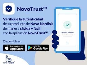 Verifica la autenticidad de su producto de  Novo Nordisk con NovoTrust™