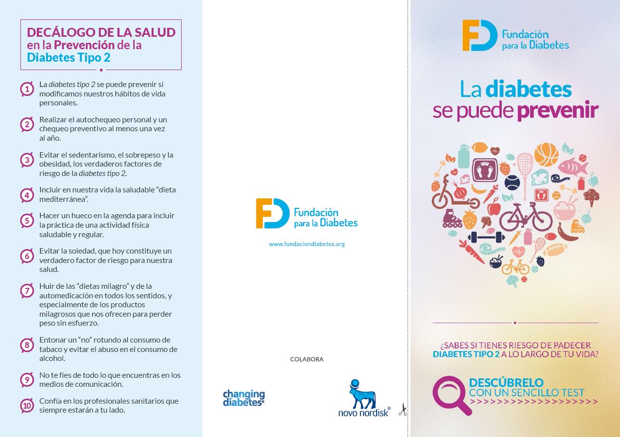 Decálogo de la salud en la prevención de la diabetes tipo 2