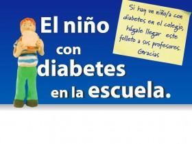 El niño con diabetes en la escuela (Tríptico)