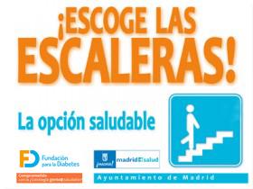 Escoge las escaleras. La opción saludable. (Cartel)