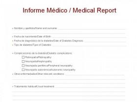 Modelo de informe médico para viajar fuera de España
