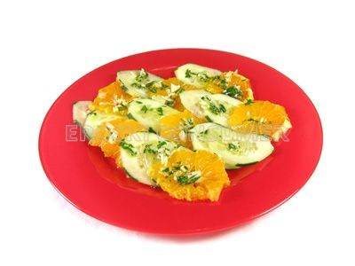 Ensalada de pepino y naranja