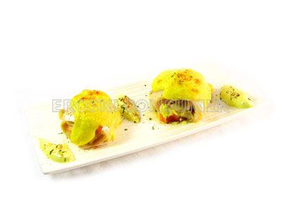 Filetes de merluza rellenos de cangrejo ruso