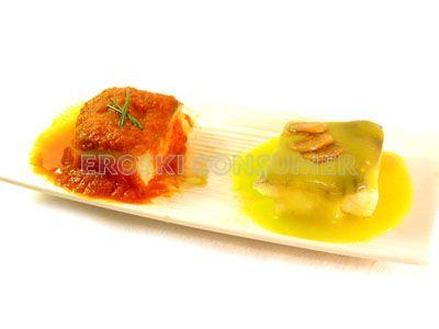 Degustación de bacalao pil-pil y vizcaína