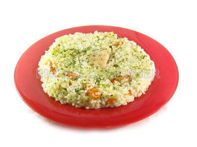 Arroz con mero y vegetales