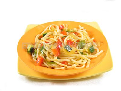Espaguetis a la jardinera