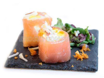 Rollitos de salmón rellenos