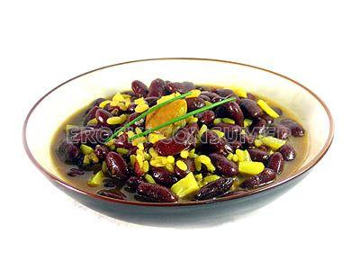 Alubias negras con arroz y sepia