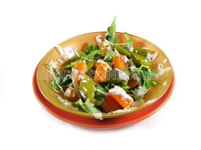 Ensalada de verduras con yogur y menta