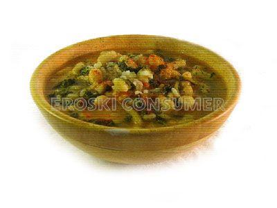 Potaje de acelga, patatas, judías blancas y arroz