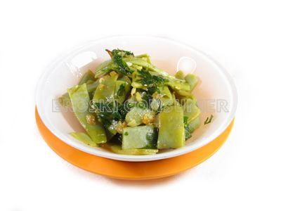 Judías verdes salteadas con perejil y limón