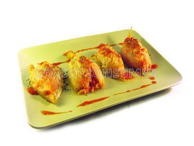 Cebollas rellenas de bacalao