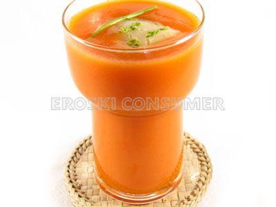 Batido de tomate, pepino y limón