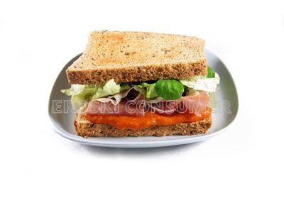 Sándwich de lechugas y jamón serrano