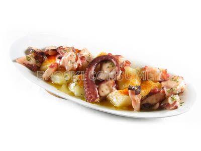 Pulpo con patatas al microondas