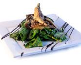 Ensalada de espinacas y setas