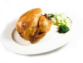 Pollo asado al horno con verduras