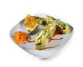 Tortilla de judías verdes y espinacas