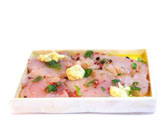 Atún fresco marinado en vinagreta de mostaza