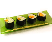 Algas Nori rellenas de arroz