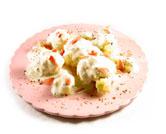 Coliflor con salsa de queso azul al microondas