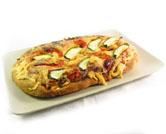 Coca pizza con verduras de temporada