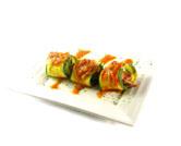 Calabacines rellenos de pollo asado y setas